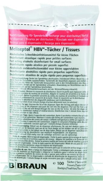 MELISEPTOL HVB - ubrousky náhradní náplň (100 ks)