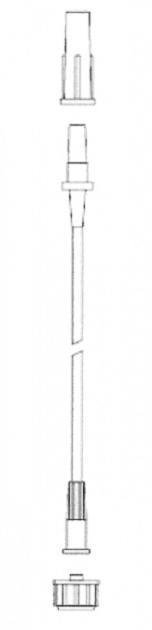 Hadička GAMAPLUS 1,8 x 450 univ., Luer Lock, 100ks